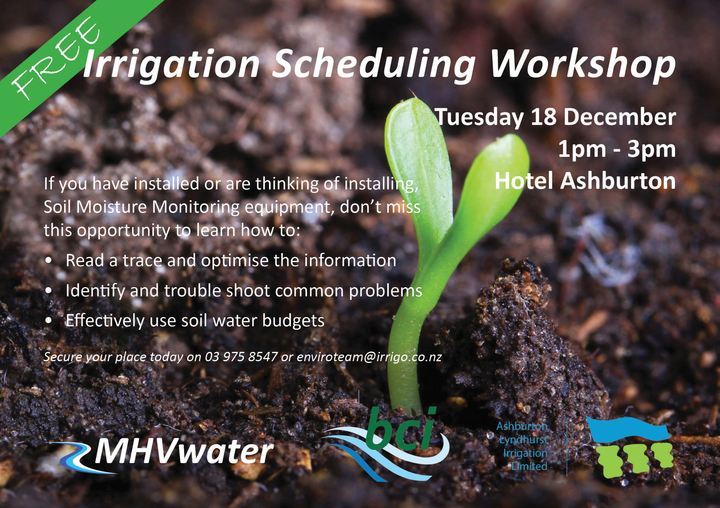 Irrigation scheduling workshop
